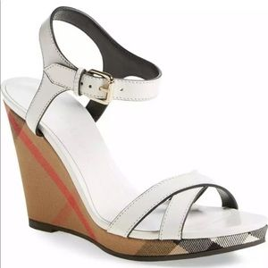 Burberry Rastrickson Wedge Sandals
